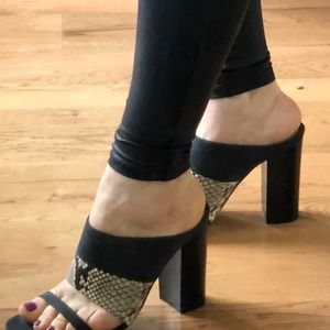 M. Gemi like new heels!  Snake print and suede!